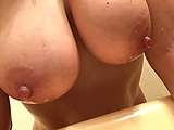 Mom's wet boobs: Wet nipples