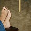 My cousin's feet: A candid shot. Love her litt…