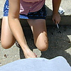 During an October 2012 flashing session: A guy get…