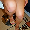 Red nails: Gold heels