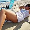 Enjoying the beach: A great day of Sun