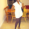 Brown pantyhose: My wife in her brown heels and pa…