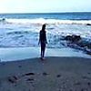 Blowjob and Swallowing on the Beach: Very cute ama…